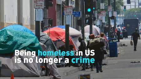 Being homeless in US no longer a crime - CGTN